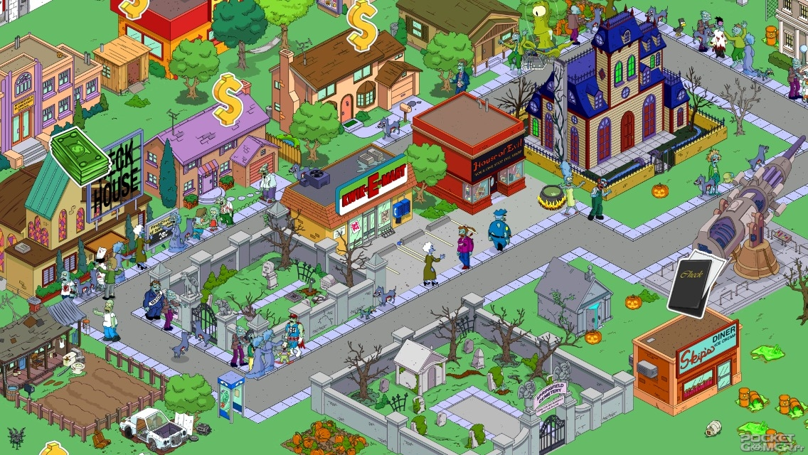 simpsons tapped out town layout MEMEs